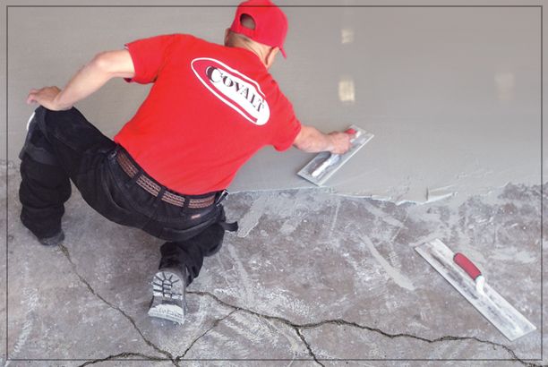 Concrete Subfloor Repair Or Leveling Services For Hardwood Floor Installation